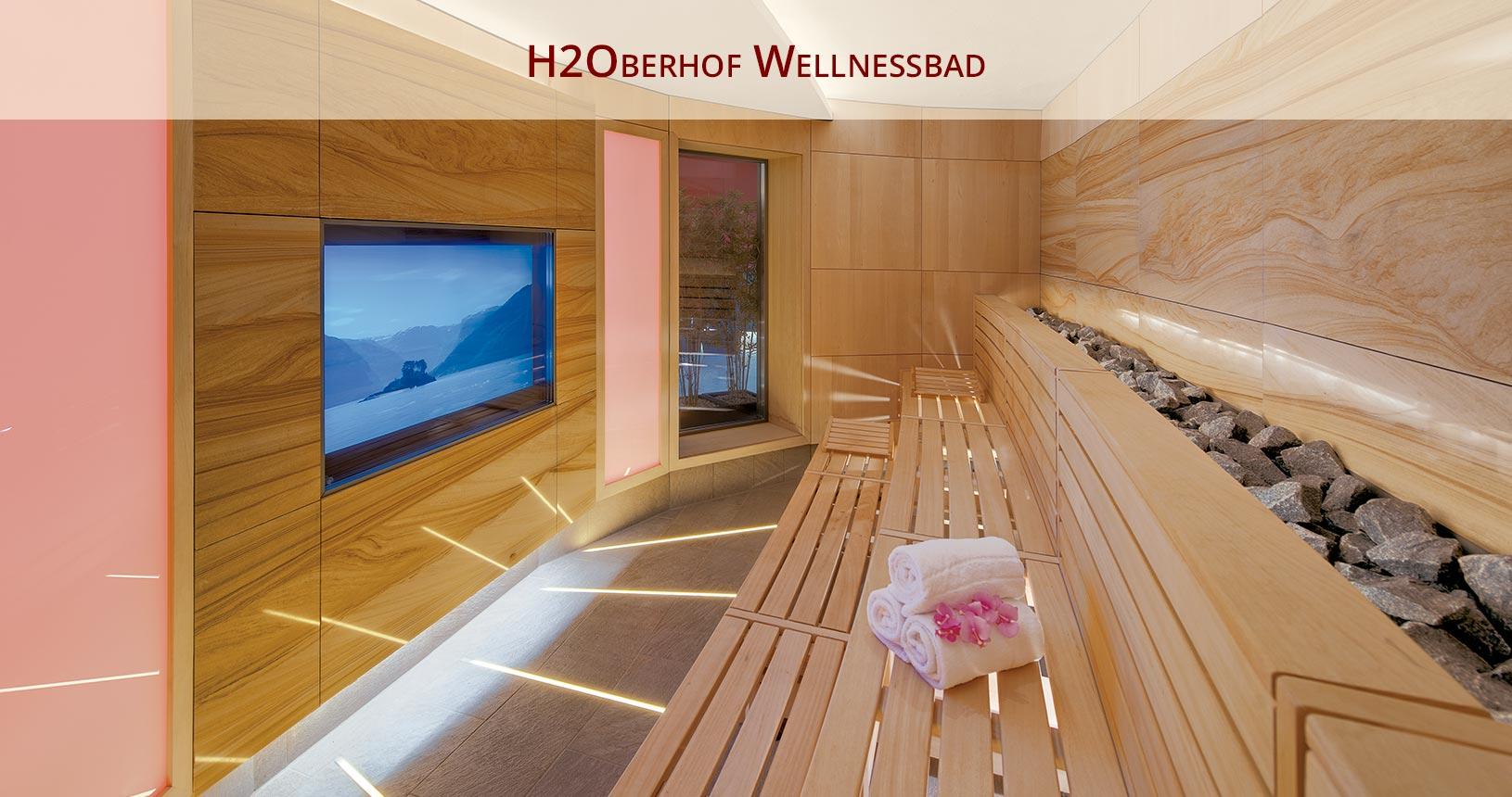 H2Oberhof Wellnessbad Blick in die Naturprojektionssauna