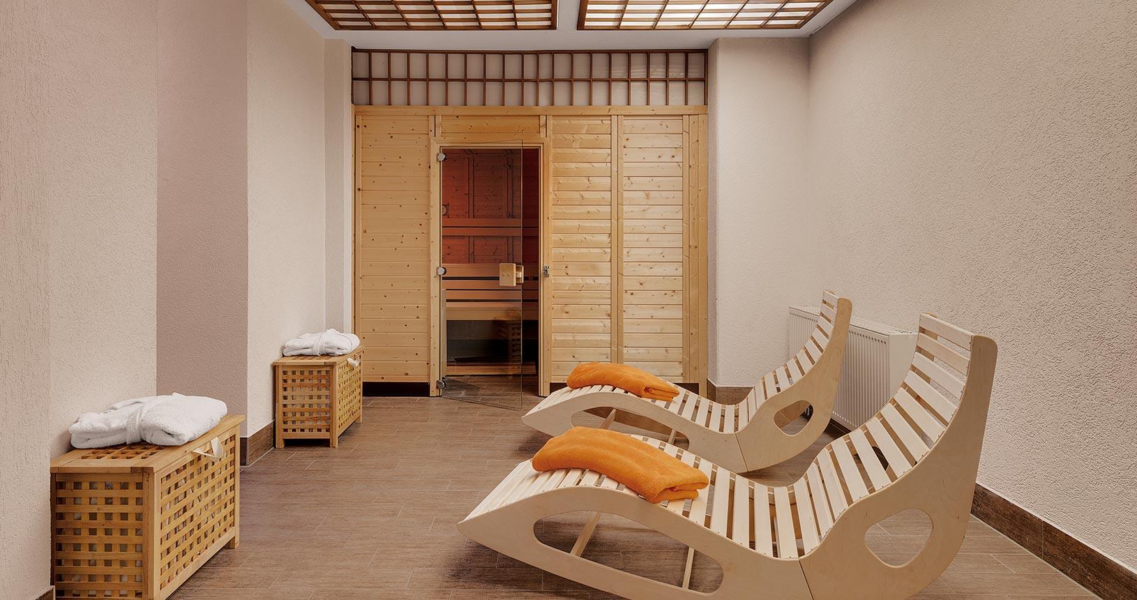 Sauna für Paarurlaub im Schlossberghotel Oberhof