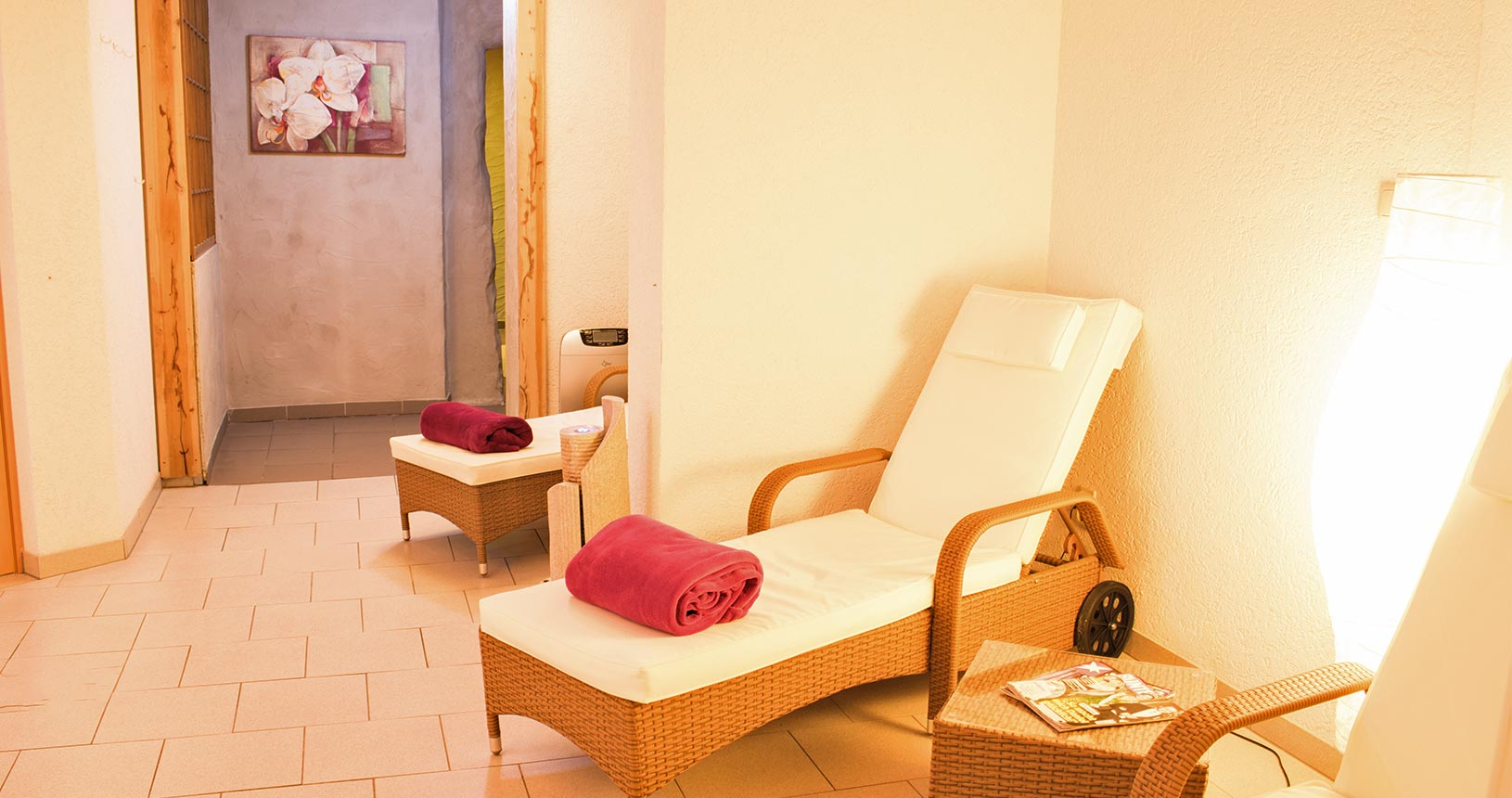 Wellness Ruheraum im Schlossberghotel Oberhof | Urlaub für Paare