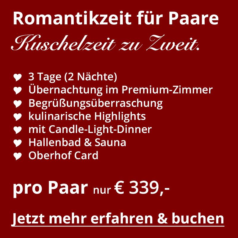 Angebot Urlaub für Paare im Schlossberghotel Oberhof in Thüringen