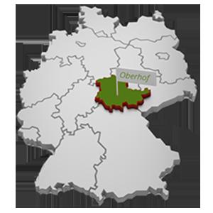 Deutschlandkarte mit Markierung Oberhof in Thüringen | © fotomek - fotolia.com